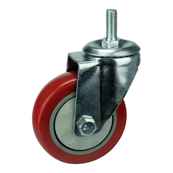 WBD decorative swivel thread plated metal cart furniture casters