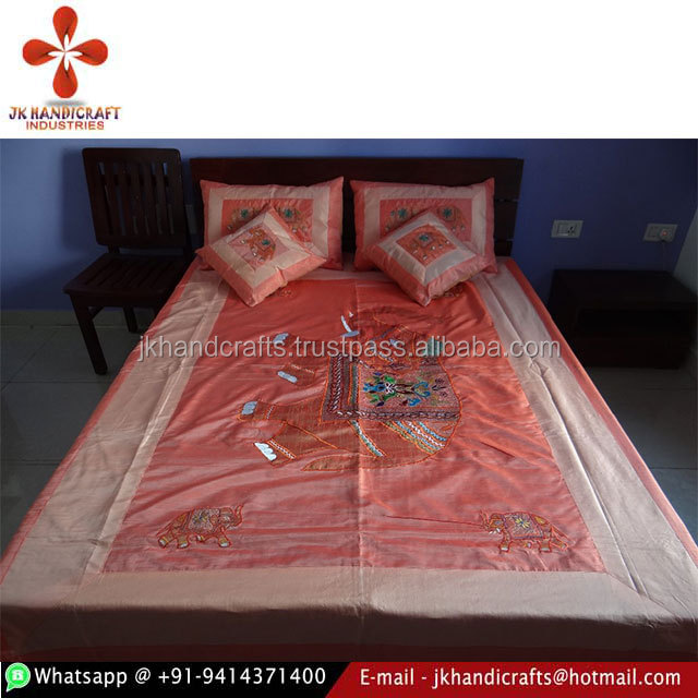 Brocade Silk Bed Cover Sheet Bedspread Coverlet  Bedding