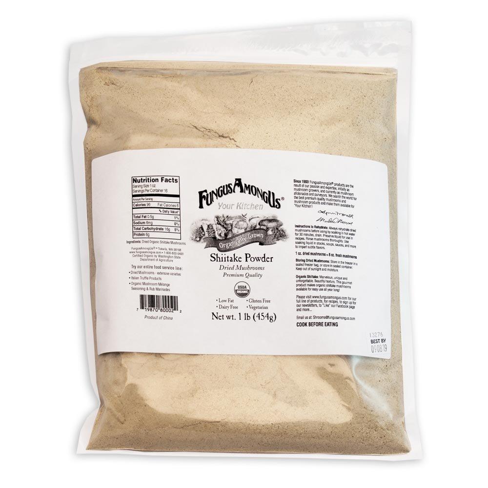 Bulk Dried Organic Shiitake Mushroom Powder - 1 lb - FungusAmongUs