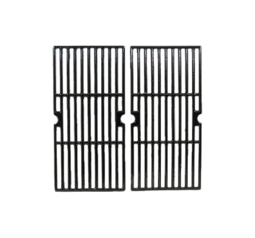 Music City Metals 65022 Gloss Cast Iron Cooking Grid Replacement for Gas Grill Model Charbroil 463250210, Set of 2