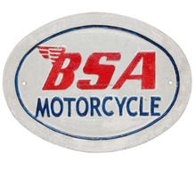 "Besi cor ""<span class=keywords><strong>BSA</strong></span> SEPEDA MOTOR"" Dinding Plak Oval"