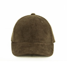Blank Baseball Cap/Hat 6 Panel  Plaid Velvet