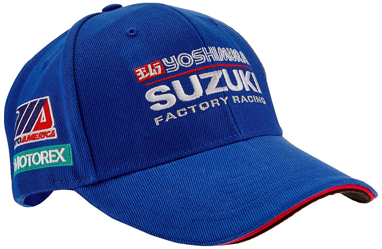 Get Quotations · Pilot Motosport Yoshimura Suzuki Factory Racing Team Hat  (Blue de5fe2db147