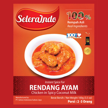 Selera Indo Chicken Rendang Seasoning - Instant Spices - Buy  Rendang,Spice,Indonesian Spice Product on Alibaba com