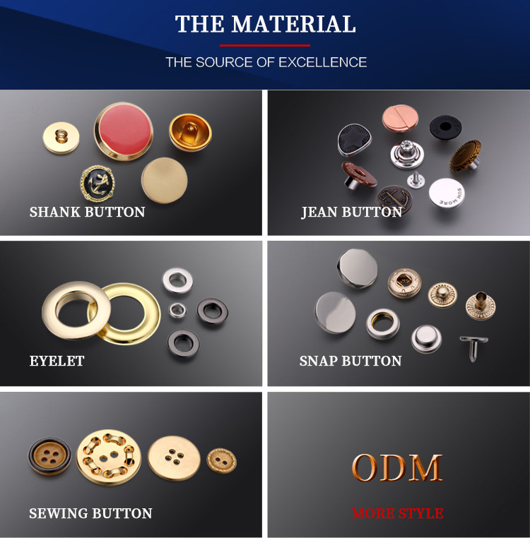 Embossed logo gold metal snap buttons for military uniform clothing