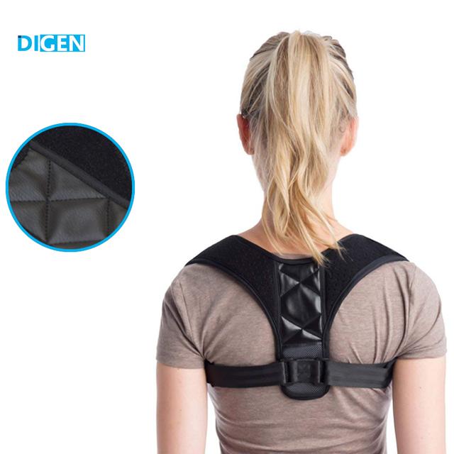 2018 amazon hot sale back posture corrector corrector de postura postura, Black