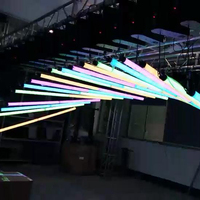 Stage light led Kinetic lifting Tube DMX winch kinetic tube lighting