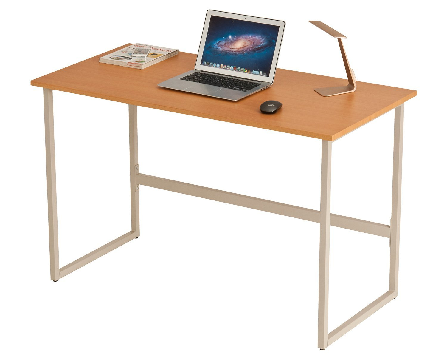 ProHT Small Compact Computer Writing Desk, Laptop/PC/Work/Writing/Table/Workstation Modern Office Desk for Small Place,w/ Durable Frame and CARB Certified Material .(Beech Ivory 05023A)