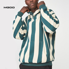 MGOO Oversize Fleece All Over Printing Fleece Hooded Pullover Vertical Stripe Hoodie