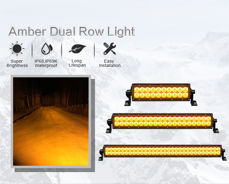 288watt 50inch Marine Led Light Bar For 4x4 Amber Color