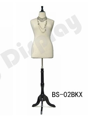 BS-02BKX+CAP-F42BKX Tripod Natural Wooden Base /& Cap Black Base for Body Form