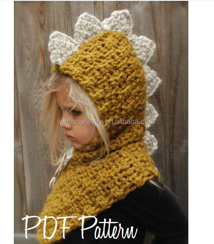 68b1843c193 Orange Girls Boy Baby Beanie Fox Cap Winter Warm Skate Ski Wool Crochet  Hooded Scarf Cape