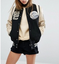 Original classic Varsity <span class=keywords><strong>Bomber</strong></span> <span class=keywords><strong>giacche</strong></span> varsity personalizzata Letterman <span class=keywords><strong>giacche</strong></span> di lana <span class=keywords><strong>giacche</strong></span> di pelle [R210] NERO