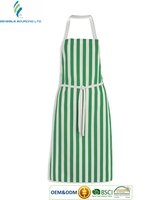 Attractive colorful striped OEM Services daily chef women kitchen apron - Bangladesh supplier