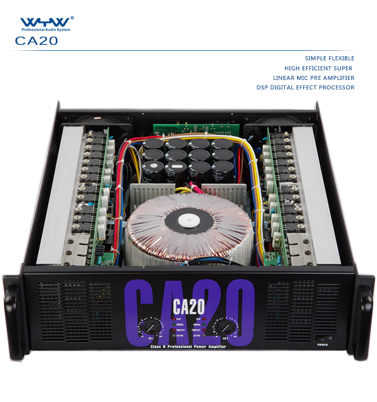 Sound Standard CA-20 Power Amplifier 1300 Watts X 2, View power pro audio  speakers, wyw Product Details from Enping City Kehua Electronic Co , Ltd   on