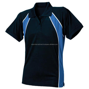 Vrouwen Dames Contrast Wicking Ademende Koele Sport Polo Shirts Casual Sport Wear Tops