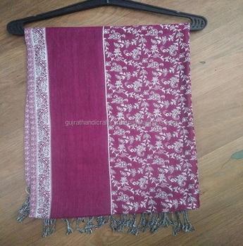 c21142b8c wholesale price Indian Pashmina Shawl Cashmere Scarf Neck Wrap Reversible  Stole wool blend Warm Scarves Indian