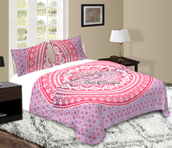 duvet beddingoutlet fabric pillowcases wholesale elephant cover home covers set wiith item indian messenger moroccan soft red bed mandala linen bedding or bedclothes