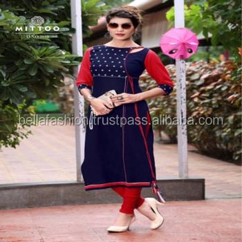 88d604a68d Fancy Latest Bollywood Western Designer Special looking Party Wear Cotton  Kurtis For Girls Wear Dress