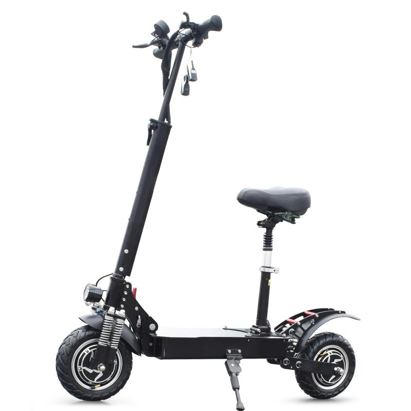 10 inch Wheels 2400w electric scooter dual motor Off-road tires with seat long range, N/a