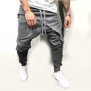 men pencil trouser Asymmetric Layered Jogger Pants Hip Hop Street wear Jogger Pants Casual Drawstring Close Bottom Pants