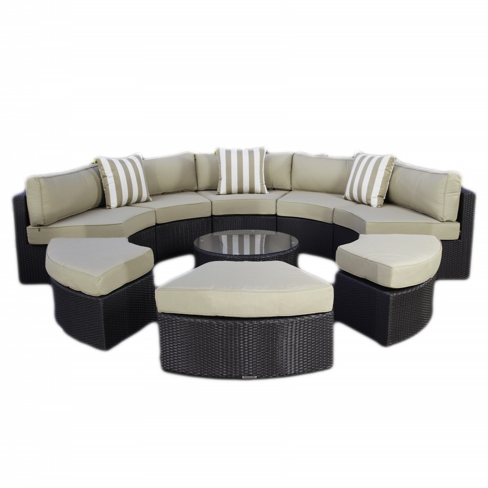 Get quotations · madbury road santorini 9 piece outdoor sectional daybed set
