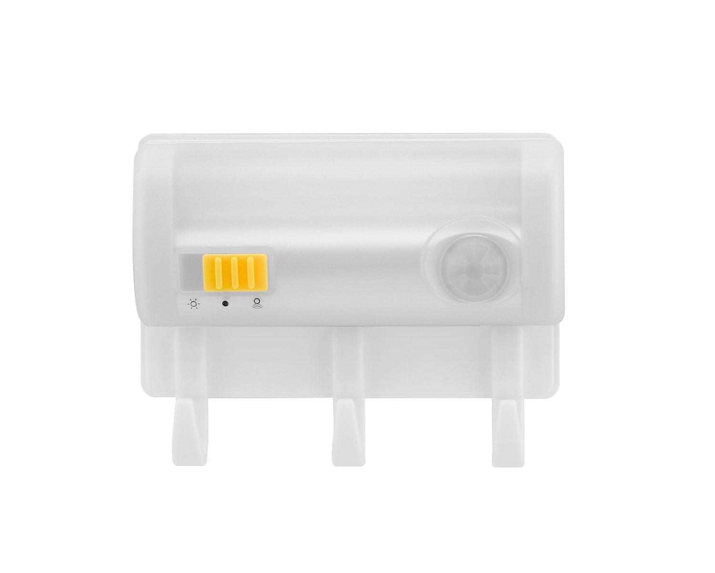 Magnetic Suction Sensor Light, MoKo Motion Sensor LED Night Light with Wall Mount Hook, Battery-Powered Wall Lamp Emergency Flashlight for Bedroom, Wardrobe, Closet, Drawer, Stairway, Kitchen - WHITE