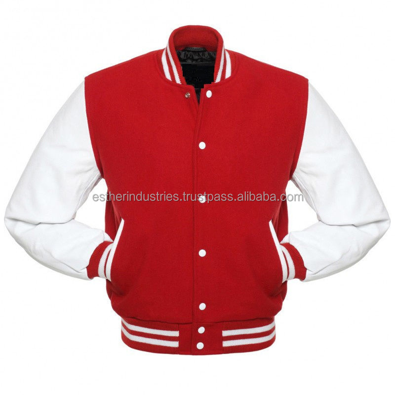 High Quality Custom Varsity Letterman Wool Jacket/All Varsity Letterman jacket/Embroidered faux leather wool Letterman jacket