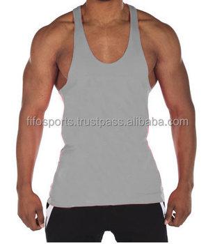 8334889d6c43c Bodybuilding Gym Singlet  Stringer Vests  Plain Cotton Gym Tanktops ...