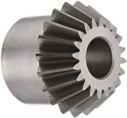 "Boston Gear L155Y-P Bevel Pinion Gear, 2:1 Ratio, 0.750"" Bore, 10 Pitch, 20 Teeth, 20 Degree Pressure Angle, Straight Bevel, Steel"