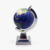 Plastic Realistic World Globe with polish aluminium stand