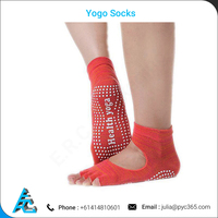 Open Top and Toes No Slip Grip Sole Yogo Socks