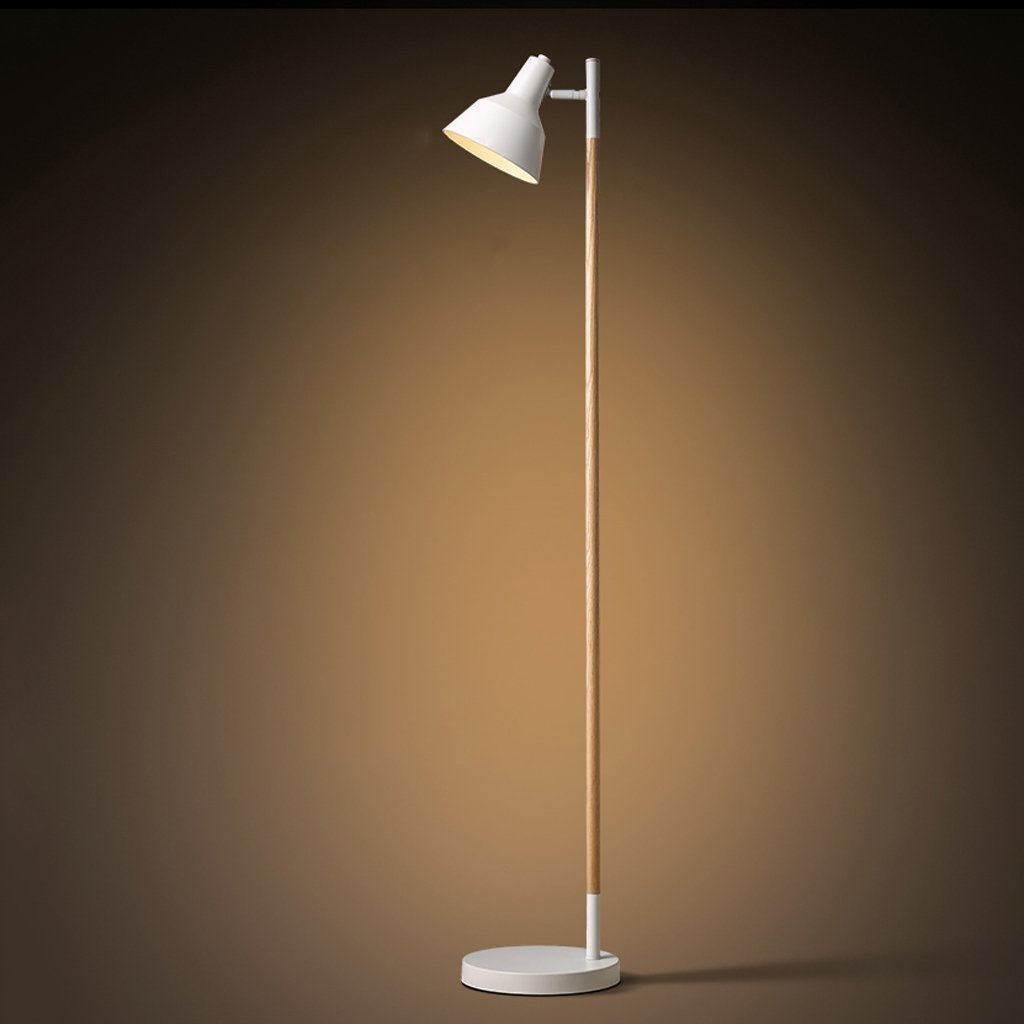 Edge To Floor lamp Nordic Modern Simple Floor Lamp Solid Wood Floor Lamp Living Room Bedroom Floor Lamp Bedside Vertical Lighting Eye Protection Floor Lamp