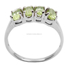 925 sterling silver peridot gemstone ring prong rings
