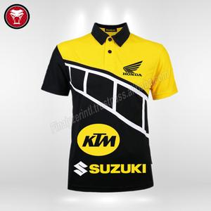 Full Custom polo shirt sublimation motor racing tee shirt dri fit motorcycle jersey motocross suits