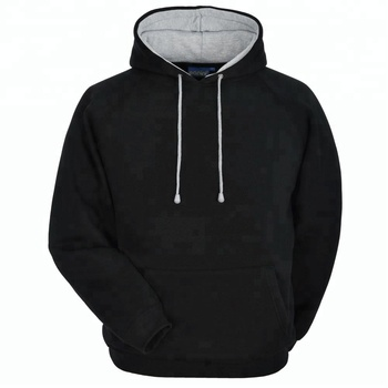 2d5a4490e Wholesale plain hoodies 100% cotton plain black hoodie/custom made hoodie  FSW-4302
