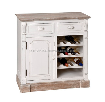 Shabby Chic Sideboard With Wine Rack Vintage Wood