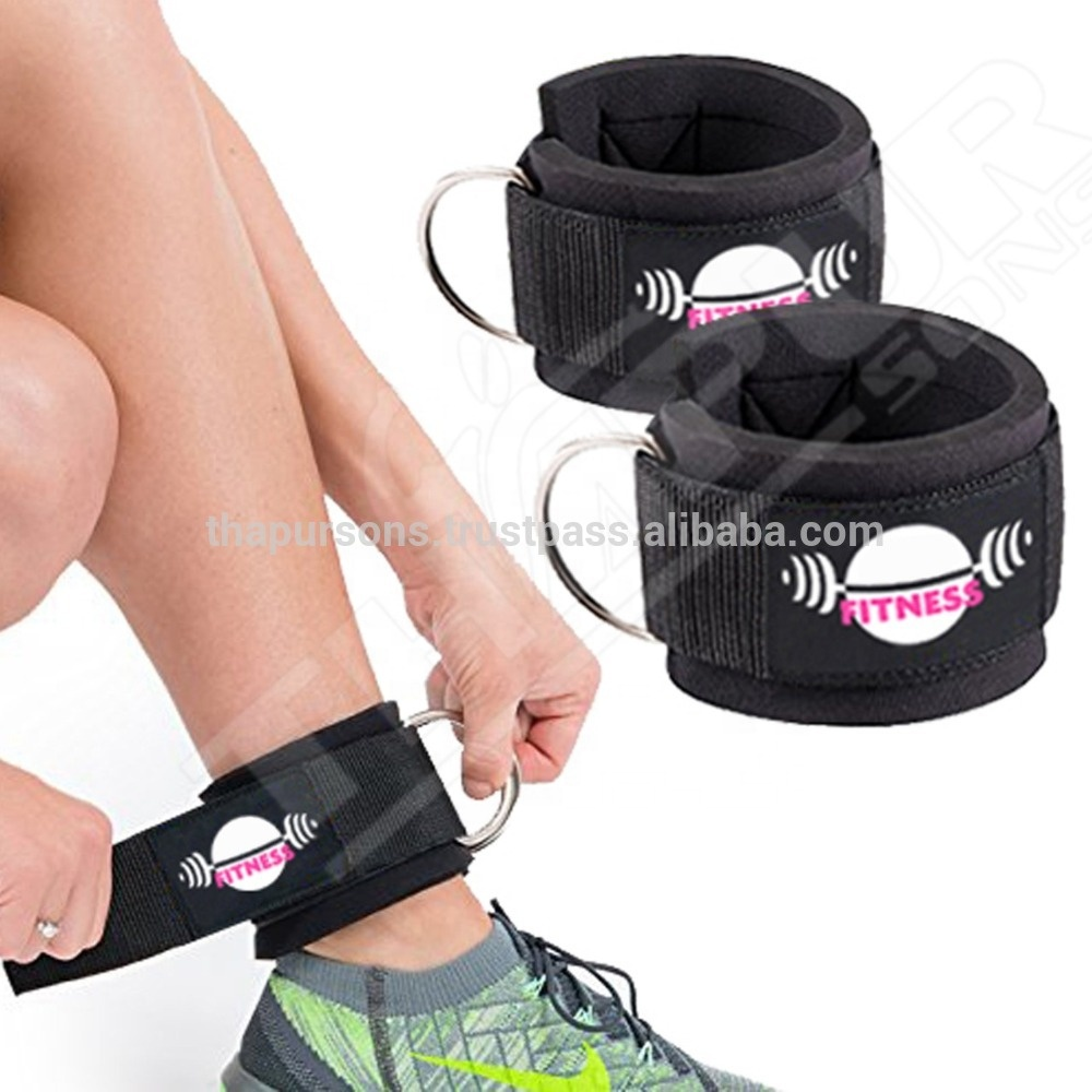 Private label Custom gym fitness Ankle Straps