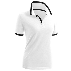 Womens Short Sleeve Golf Polo Shirt White
