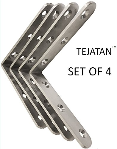 Each Size 10 Pieces 2 Size 30 Pieces Corner Brackets 90 Degree Angle Bracket Corner Braces Stainless Steel L Bracket with Screws,20 x 20 mm,3030mm,40 x 40mm
