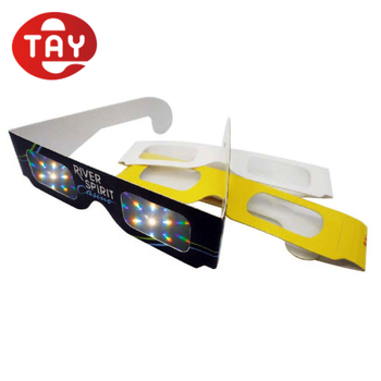 Paper Folding Frame Handsfree 3D Rainbow Glasses