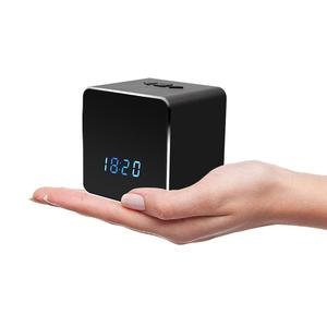 1080P Hidden Camera wifi HD Wireless Stereo Speaker Mini Camera Bluetooth Music Player Alarm clock spy camera security