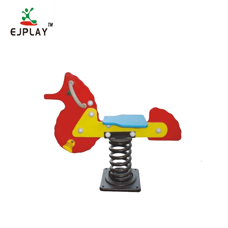 High Quality Outdoor Playground Animal Plastic Rocking Horse/Kids Spring Rider Toys For Park
