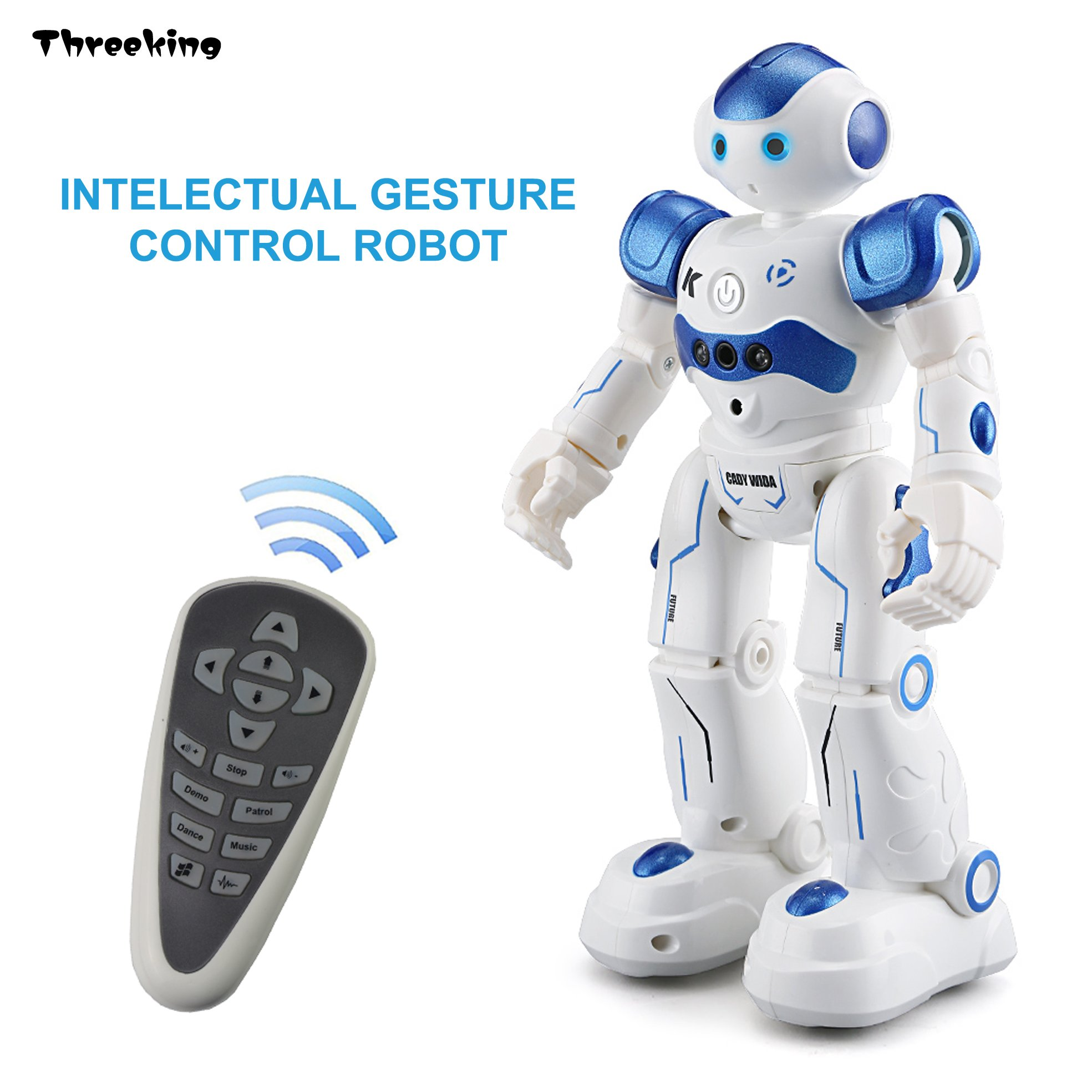 Smart Electronics Dynamic Induction Intelligent Remote Control Robot Children Educational Toys Early Kids Smart Toys With Music Talking Walking Function Smart Remote Control