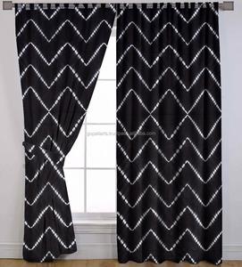 Indian tie dye shibori curtains ethnic cotton handmade window door hanging  bohemian valances window decor set
