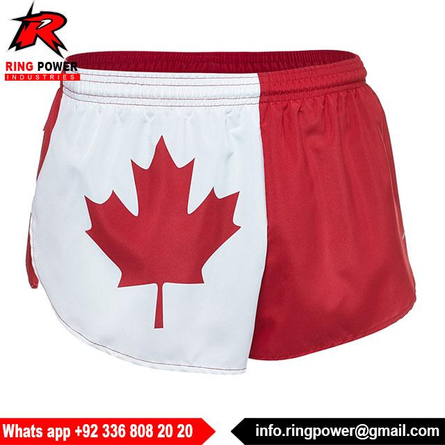 Mens Canadian Symbol Maple Leaf Flag Summer Swim Trunks Beach Shorts