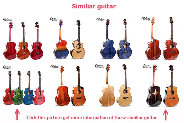Alto grau de cedro Maciço violão spruce top com handguard