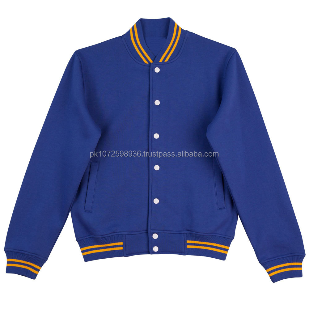 Custom wholesale cotton varsity letterman baseball jackets