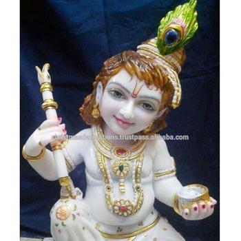 Image of: Radha Krishna Parenting Nation Marble Krishna Cute Idols