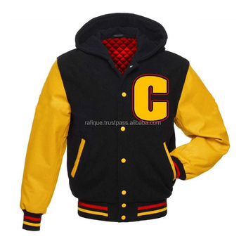 Hi Demand Varsity Hoodies For Men's/Custom embroider Patch men Hoodies/Adult College Varsity Jacket with Hood
